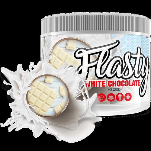 flasty weiße Schokolade
